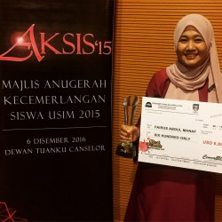 FAIRUS PEMENANG SULUNG CEMCA BEST FEMALE ACHIEVER AWARD 2016
